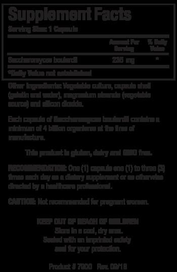 Sacchoromyces Boulardii Facts