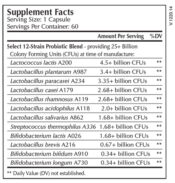Probiotic Select supplement facts